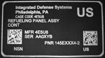 example IUID nameplate